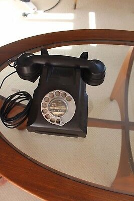 2x vintage telephones dial fully functional antique bakelight?