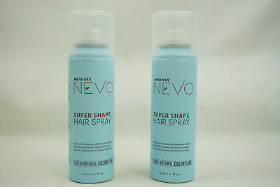Lot Of 2 Pravana Nevo Super Shape Hair Spray Natural Color Care 3 Oz