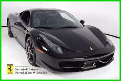 2013 Ferrari 458 Base Coupe 2-Door 2013 FERRARI 458 ITALIA, NERO OVER NERO, FERRARI APPROVED, FACTORY WARRANTY