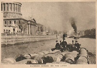 Dublin, Guinness Barges on the Liffey.