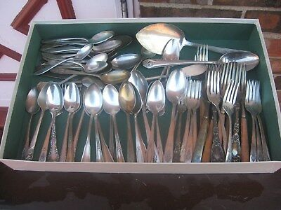 Vintage Silverplated  Spoons & Forks Great For Crafts,jewelry Makers  85 Pieces
