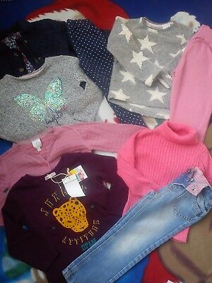 9x NICE JASPER CONRAN F&F GEORGE WINTER BUNDLE OUTFITS GIRL CLOTHES 2/3 YRS (1.2