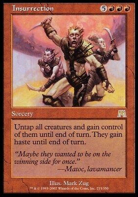 Insurrection ~ Onslaught ~ Excellent/Moderately Played ~ Magic The Gathering
