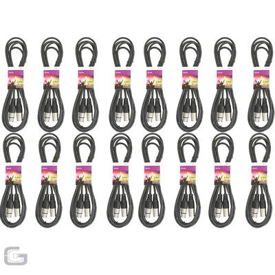 16 x 3M High Quality DMX Lighting Control XLR Cable Leads DJ Light Stage Pack
