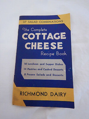 Vintage Cottage Cheese Recipe Book from Richmond Dairy, Richmond, VA
