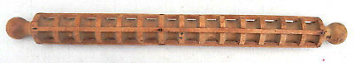 """Hand Made Antique Long Cage Type Wooden Pasta Roller Excellent Condition 23"""""""