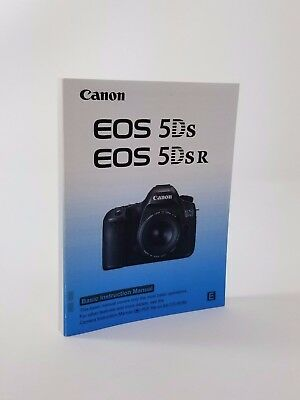 Canon EOS 5Ds Genuine Instruction Owners Manual EOS 5Ds Book Original NEW