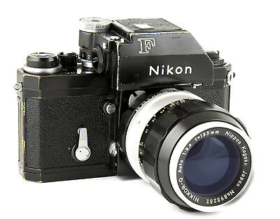 Nikon F Black Camera #6800292 with 135mm Nikkor-Q Auto f/3.5 Lens