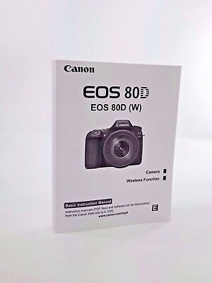 Canon EOS 80D Genuine Instruction Owners Manual EOS 80D Book Original NEW