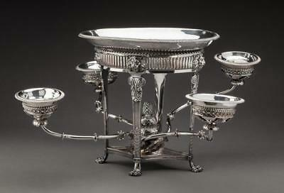 MAGNIFICENT REGENCY SHEFFIELD PLATED EPERGNE London, c.1815