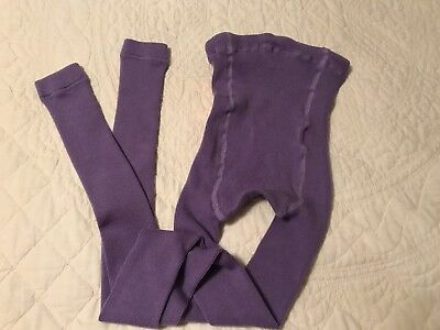 Hanna Andersson Girls Purple Footless Tights 150 US 12 Warm NWOT
