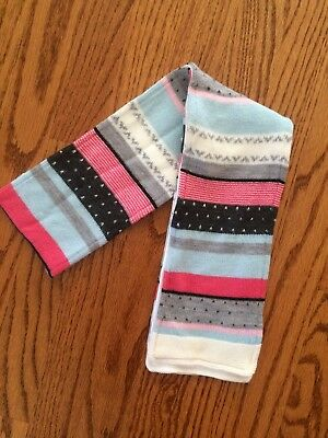 NWT Sz 4T and up Janie and Jack Snowflake Panda scarf pink blue 4 5 6 7 8 10