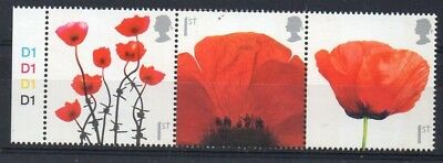 GB 2008 Lest We Forget MNH setenant strip with cylinder numbers