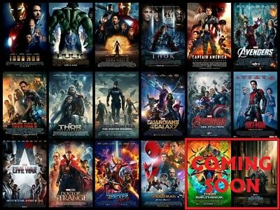 NEW & SEALED - Marvel 16-Movie FULL Current MCU Collection/Set - Blu-Ray