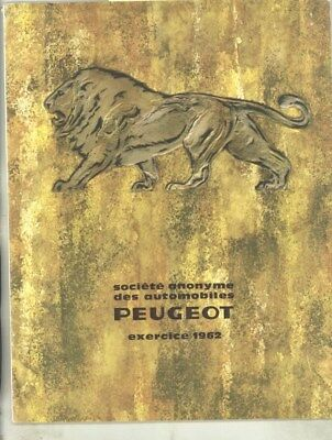 1962 Peugeot Factory Annual Report Prestige Brochure French wy8884
