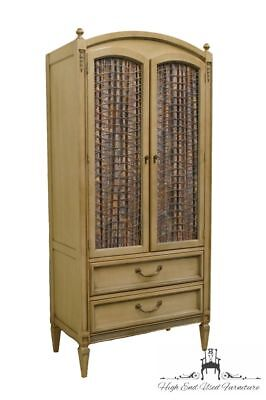 """High End French Provincial 32"""" White Armoire / Door Chest"""