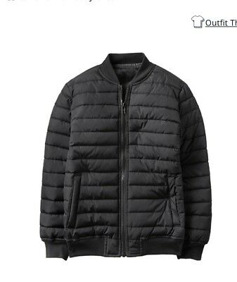 New Crazy8 Puffer Bomber Jackets For Boys Size 10-12 Color Black Coat