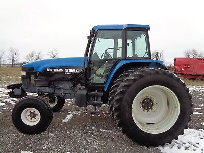 1997 New Holland 8260 Tractor, Cab/Heat/Air, PowerShift, 4 remotes, 5,619 hours
