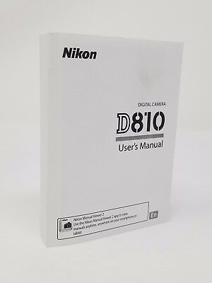 Nikon D810 Instruction Owners Manual Book NEW