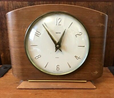 Rare Vintage 1960's Retro Smiths 8 Day Floating Balance Mechanical Mantle Clock