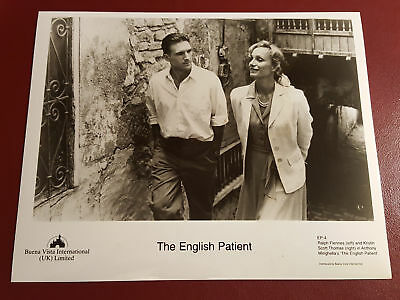 The English Patient, Ralph Fiennes, Kristin Thomas B&W Photo Press Still #B1083