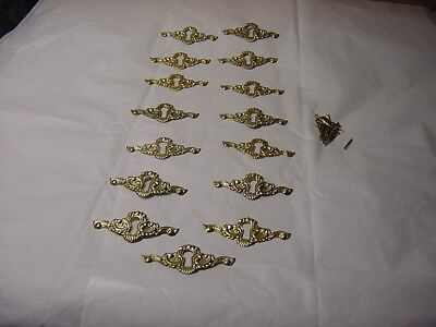 15 Vintage Nos Brass Key Hole Covers Not Antiques With Nails