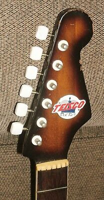 Teisco Del Rey ET series guitar neck with tuners and logo vintage 1965 NICE