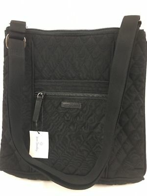 New With Tags Vera Bradley Classic Black  Microfiber Hipster
