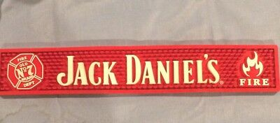 Jack Daniels Bar Mat Red Fire 7