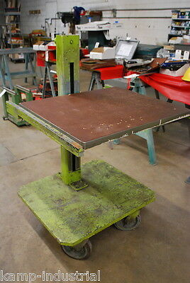 """28""""x 24"""" Adjustable Tool & Die Table Cart Workbench Machinist CNC Industrial"""
