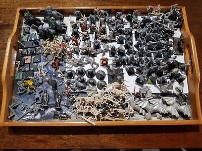 Mixed Lot Games Workshop Fantasy Metal & Plastic Bowmen Bats Skeleton Goblins Or