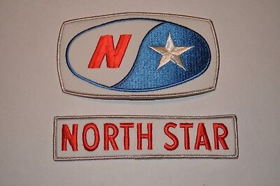 Vintage Early 1970's North Star Oil Gas Gasoline Service Station Patches Unused