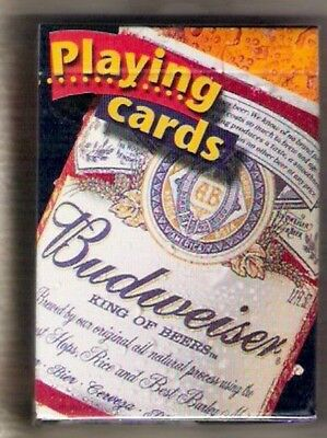"""Budweiser """"King of Beers"""" Playing Cards New - Sealed"""