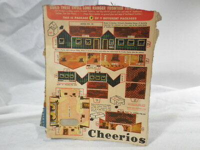 Lone Ranger Cheerios Frontier Town Box Panel Number 7