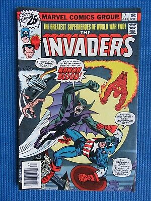 The Invaders # 7 - (Vf-) - Baron Blood - Captain America, Torch, Sub-Mariner