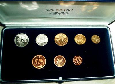 1993 South Africa Proof Set in Original Presentation Case.Beautiful Set