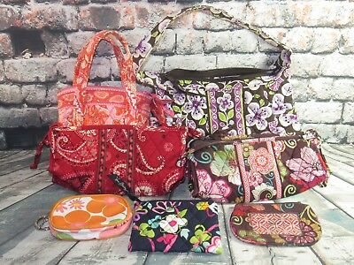 Lot Of 7 Vera Bradley Bags - Coin Purses, Purses, Make Up Bags