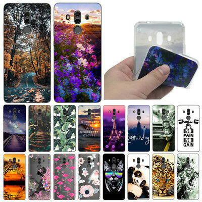 For Huawei Mate 10 Pro/Lite Shockproof Soft Silicone Painted TPU Back Case Cover