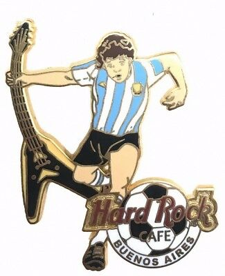 Hard Rock Cafe 2005 Buenos Aires Soccer Player with Flying V Guitar Pin