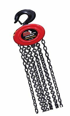 Torin Big Red Chain Block / Manual Hoist with 2 Hooks 2 Ton (4000 lb) Capacity