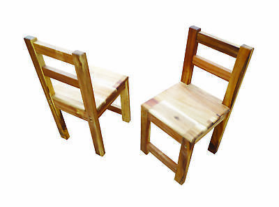 NEW Child-safe Hardwood Oiled Acacia Standard Chair Natural for Kinder Children