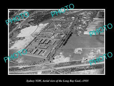 OLD LARGE HISTORIC PHOTO OF SYDNEY NSW, AERIAL VIEW OF LONG BAY GAOL c1935