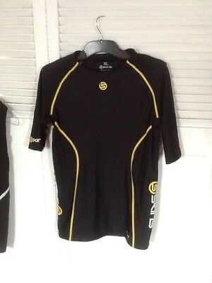 MENS / WOMENS ?  SKINS A200 Compression TOP - BLACK - NEW WITHOUT TAGS SZ XL