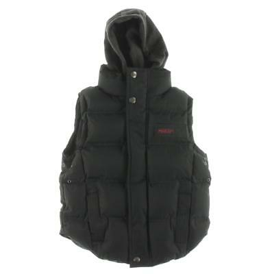 J. Whistler 0271 Black Quilted Hooded Outerwear Vest Jacket 7 BHFO