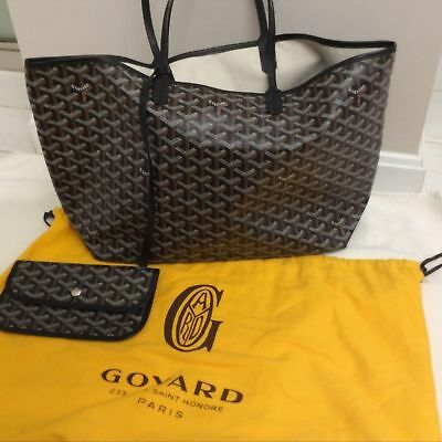 Authentic New Goyard PM  Black Tote Bag With Dust Bag