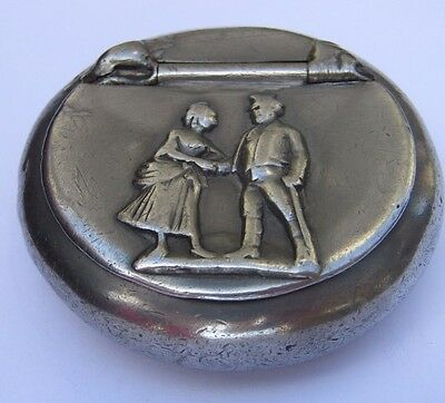 Antique Snuff box by G. Smith & Son Cardinal Blend Pewter 74 Charing Cross Rd.