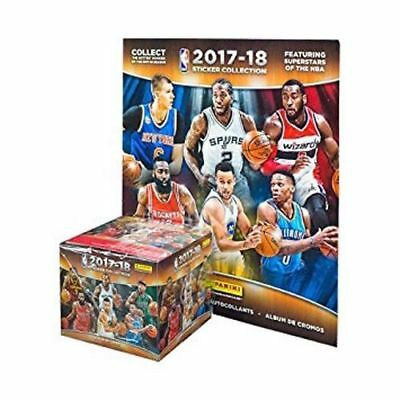 PaninI 2017 2018 NBA Basketball Sticker Collection 50 Packs Stickers + Album