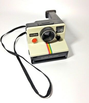 *AS IS UNTESTED* Polaroid OneStep Land Camera Rainbow Stripe Vintage Instant