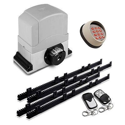 NEW Motor Powered LockMaster Automatic Sliding Gate Opener w/ 2 Remote Controls