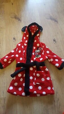 Minnie mouse dressing gown 6-9 months girls